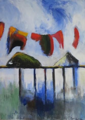 2015_29_Marc Van Eygen water, was en woning, schilderij acryl 100 x 140 cm